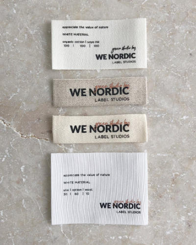 recycled printed labels